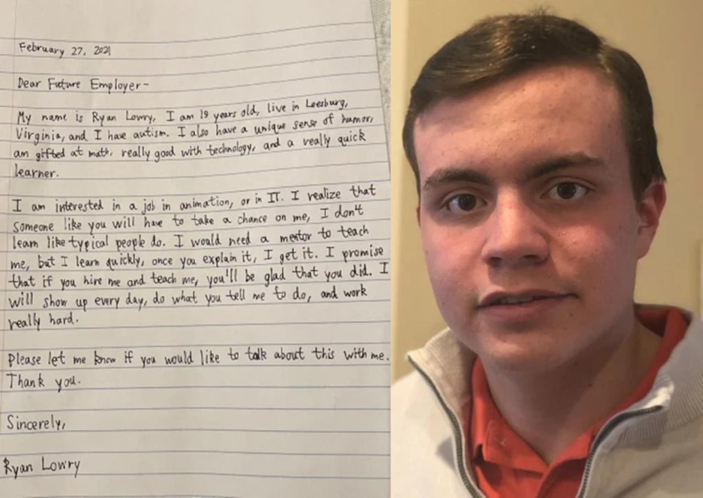 Joven con autismo pide a sus potenciales empleadores 'darle una oportunidad'