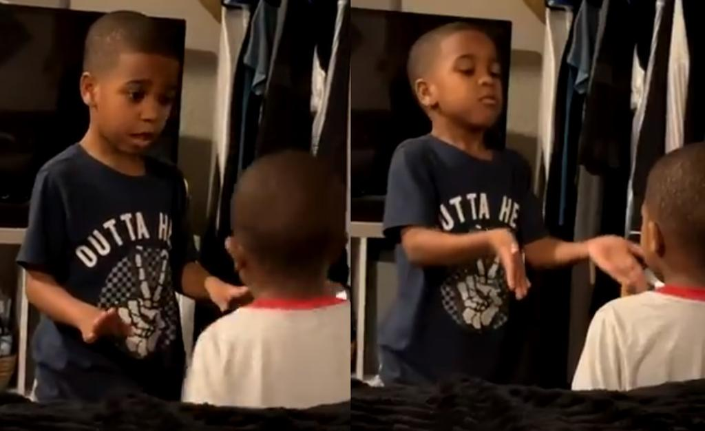 Técnica de niño para evitar 'berrinche' de su hermano se vuelve viral