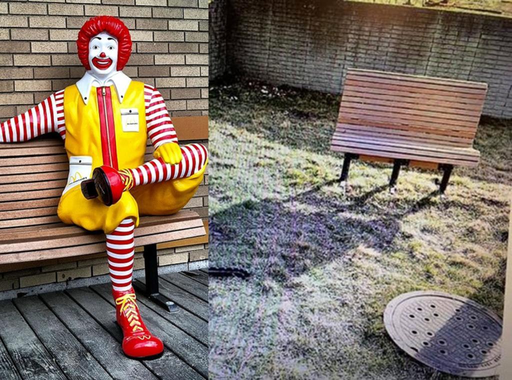 Ofrecen recompensa de 31 mil pesos por estatua robada de Ronald McDonald