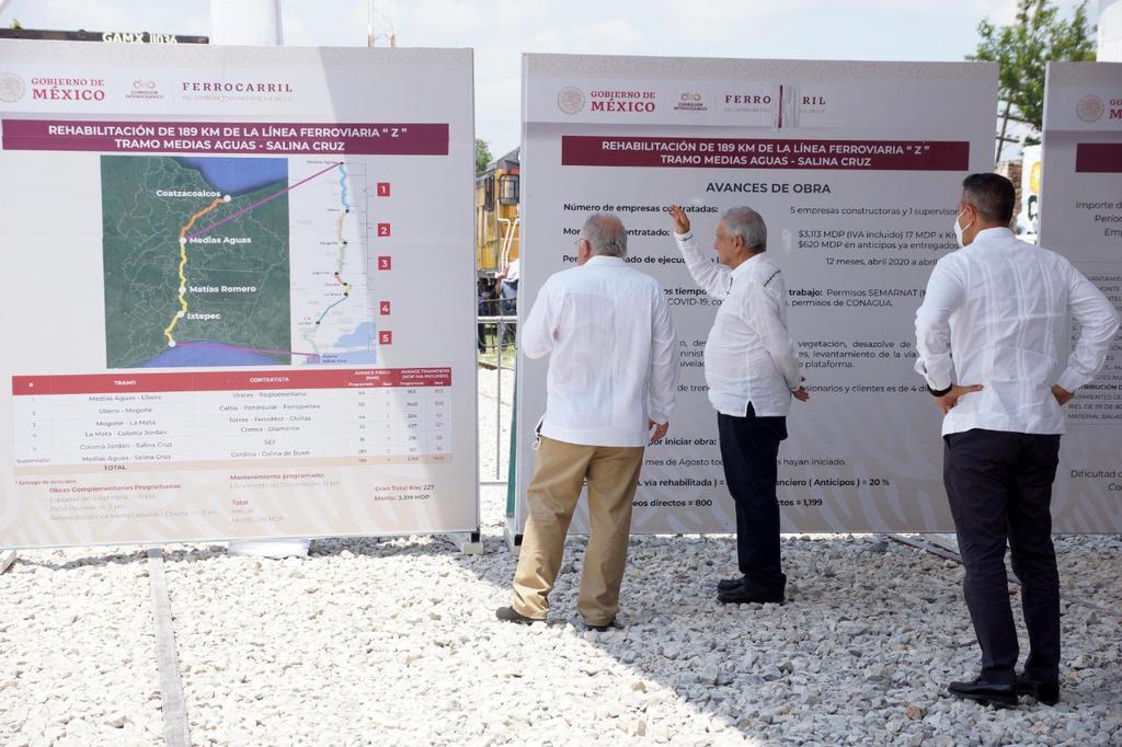 Dará Obrador propiedad parcial de Tren Interoceánico a Semar