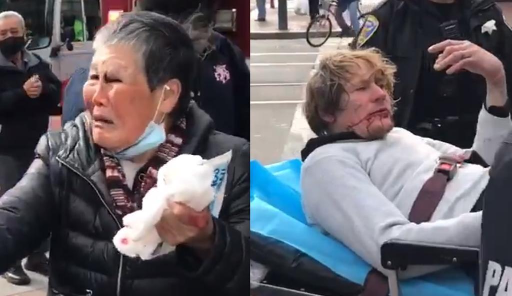 Mujer asiática es víctima de ataque racista y ella manda al hospital a su agresor