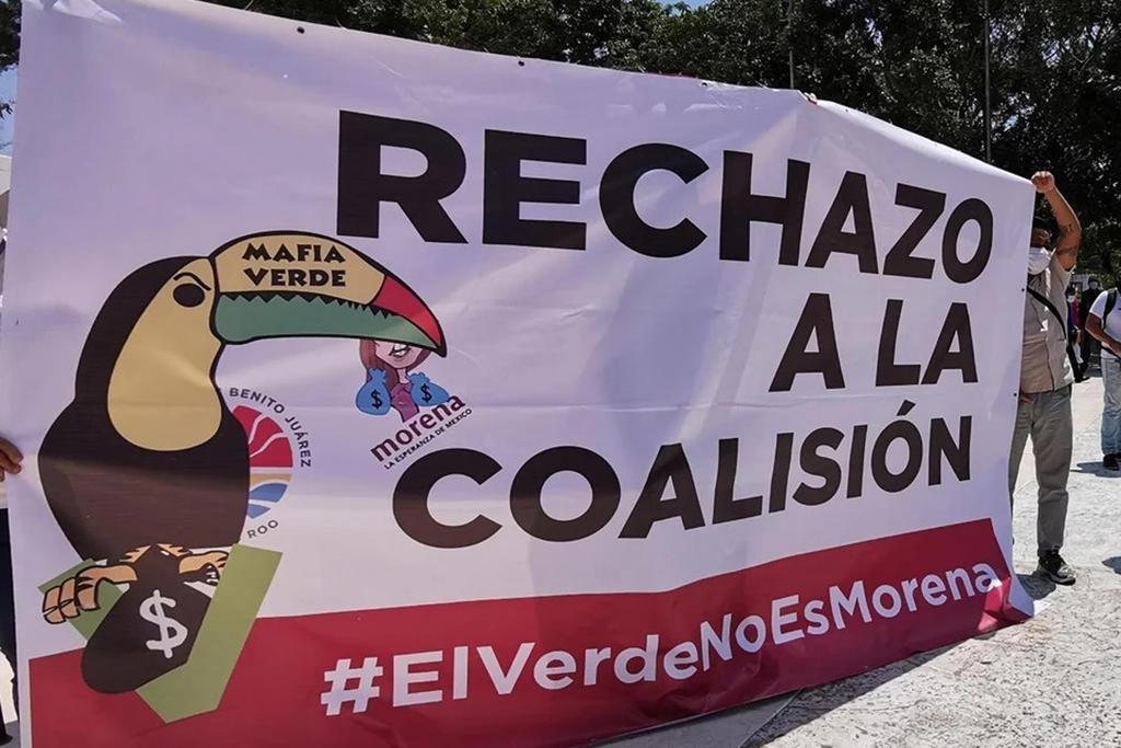 Rechazan morenistas alianza con el Verde en Quintana Roo