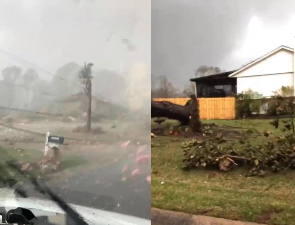 Hombre cruza manejando un tornado y filma la escalofriante escena