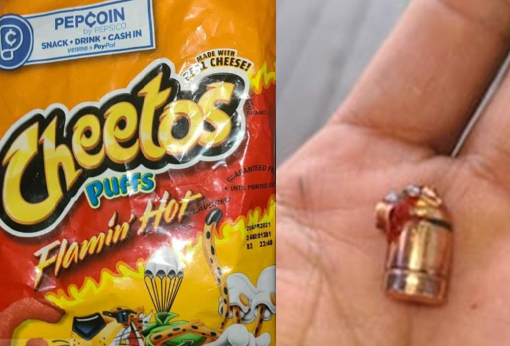 Padre de familia asegura que su hijo encontró una bala en una bolsa de frituras
