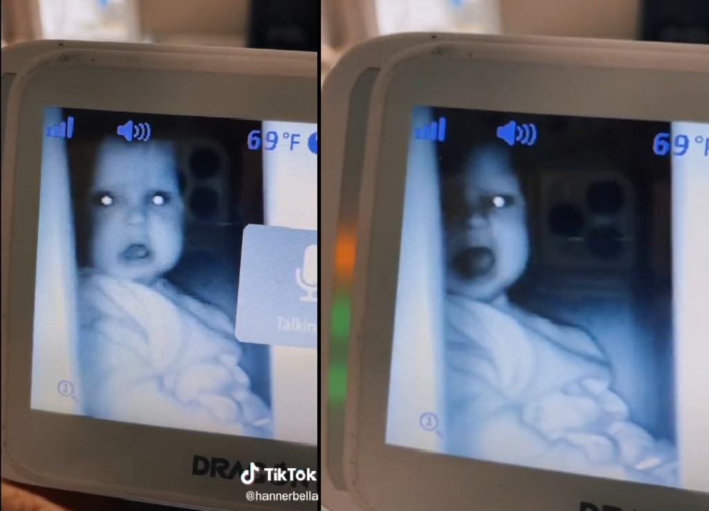 Bebé tiene cómica reacción cuando lo regañan porque descubrieron sus travesuras