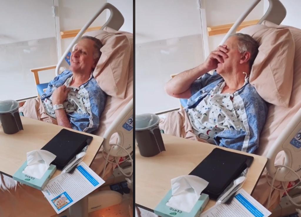 Emotivo video muestra a un hombre con Alzheimer enterarse que su hija está embarazada