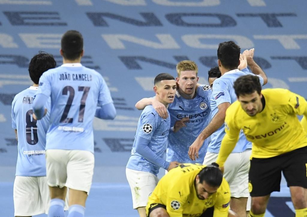 Manchester City supera al 90' a Dortmund en los cuartos de la Champions