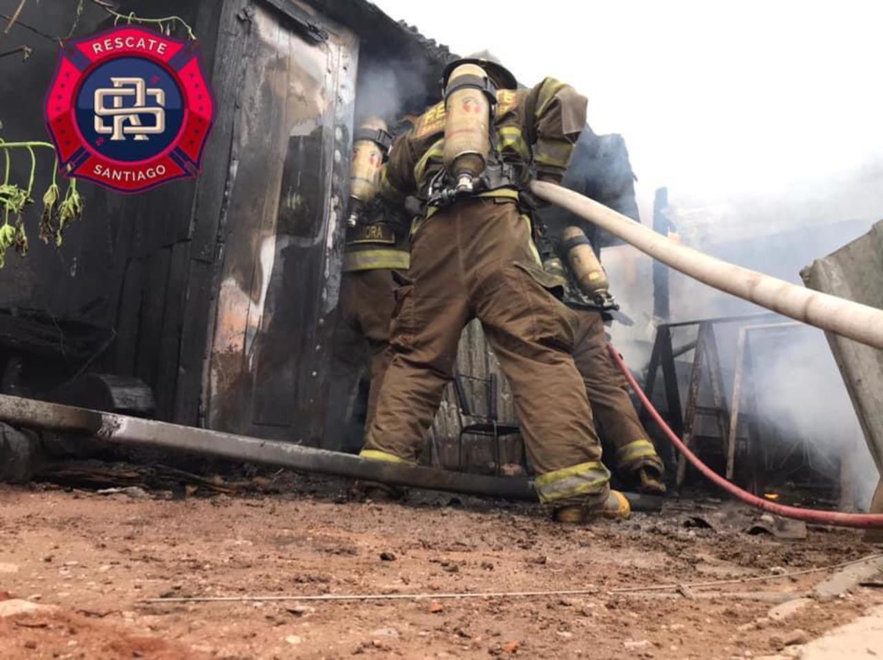 Se incendia hogar de octogenario en Santiago Papasquiaro