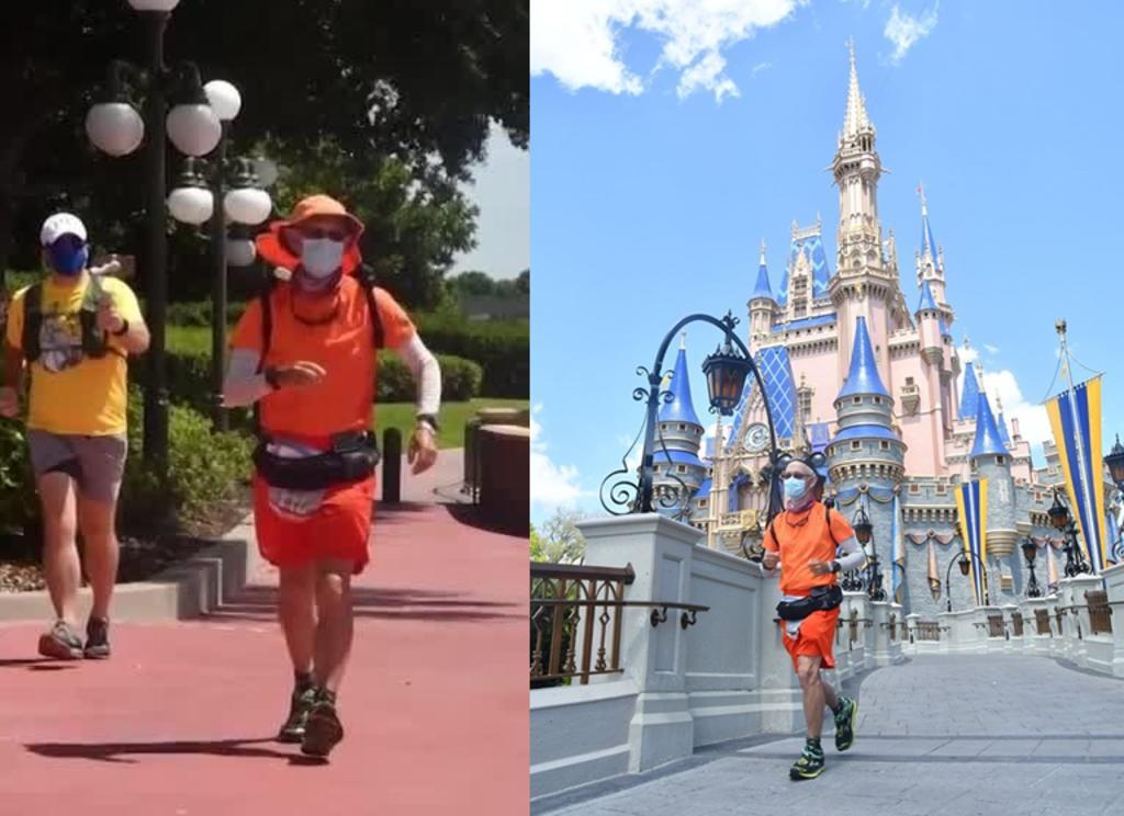 Hombre corre desde Disneyland hasta Disney World