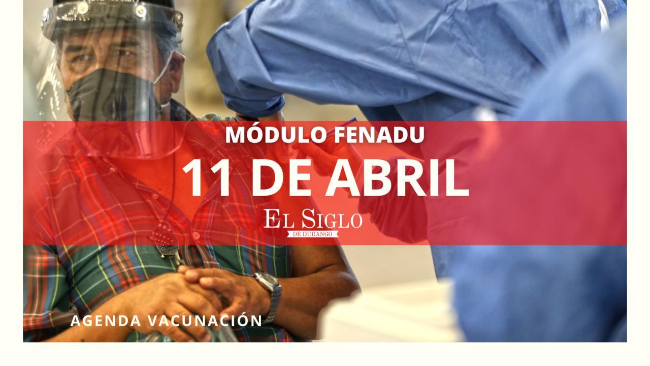 Aquí la agenda de vacunación para mañana en la Fenadu