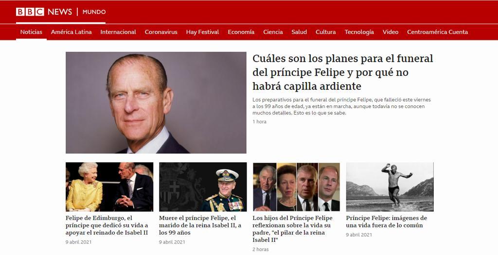 Se quejan por 'cobertura excesiva' del príncipe Felipe por parte de la BBC