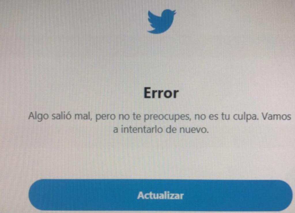 Twitter presenta servicio intermitente