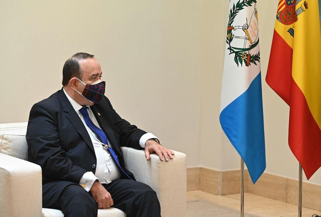 Giammattei pide a EUA abrir mercados para frenar migración