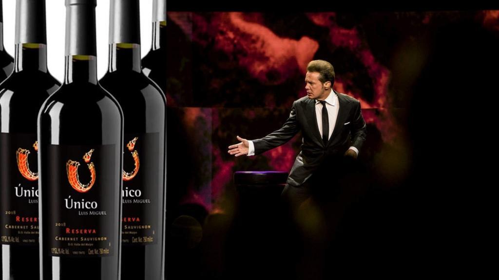 Único, la marca de vino tinto de Luis Miguel de venta limitada