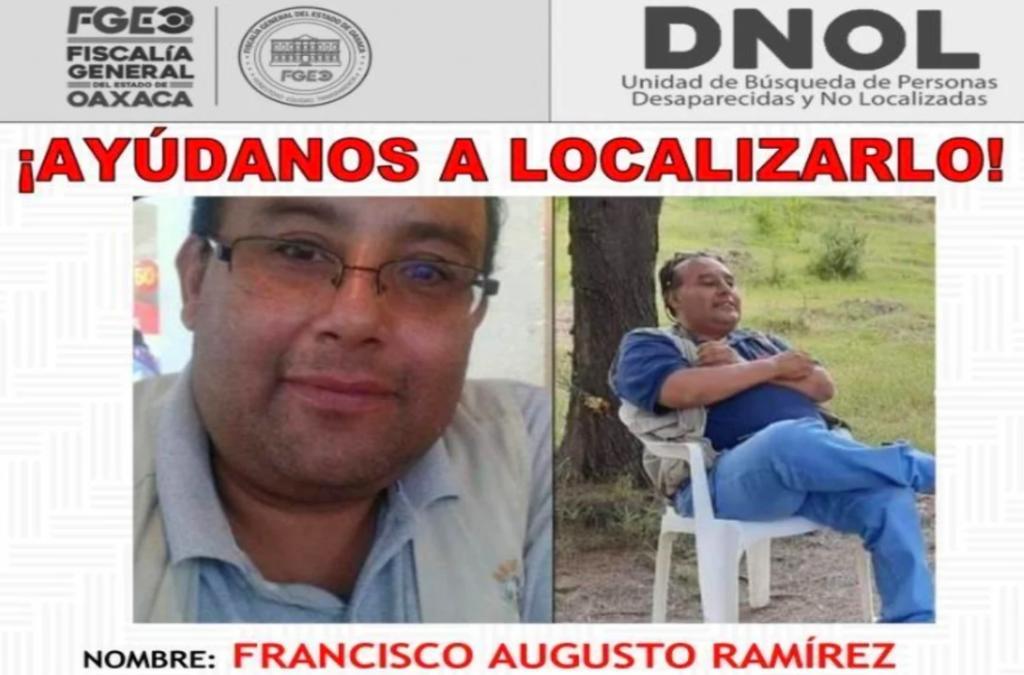 Desaparece periodista Francisco Ramírez en Oaxaca