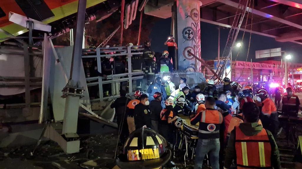 Realizan labores de rescate tras colapso de Línea 12 del Metro en CDMX