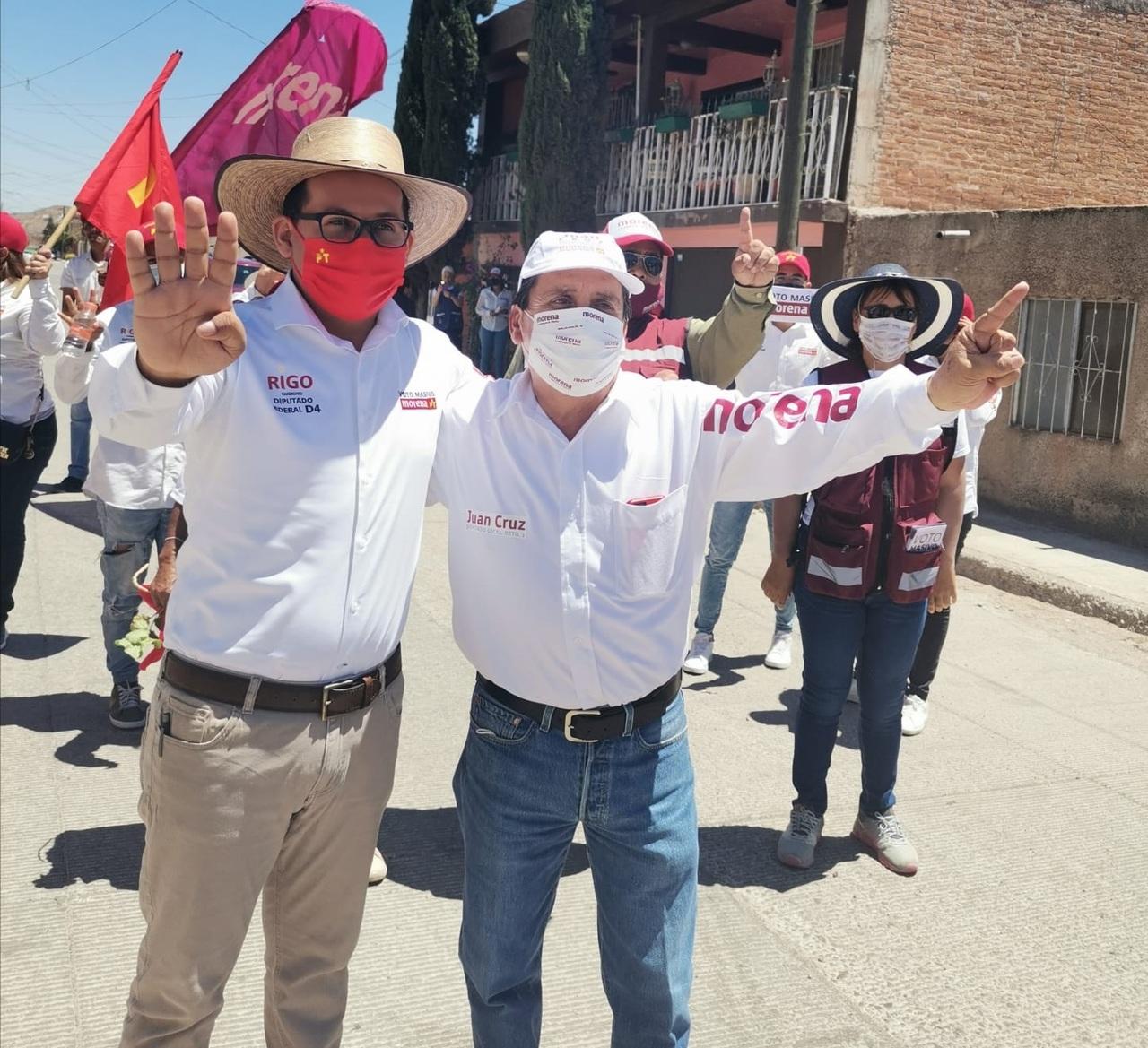Respaldan a Morena y PT con Rigo Quiñonez