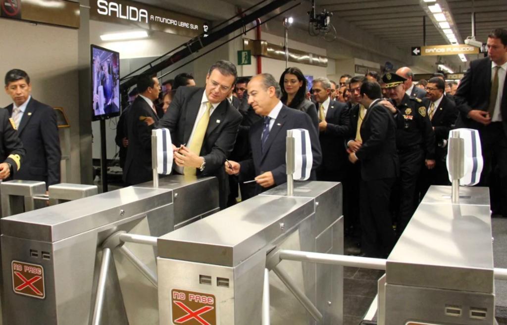 Así inauguraron Ebrard, Calderón y Mancera la Línea 12 del Metro de CDMX en 2012