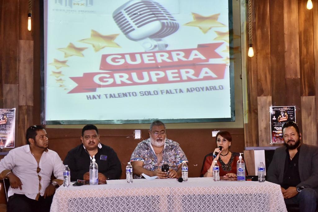 Presentan concurso Guerra Grupera en La Laguna