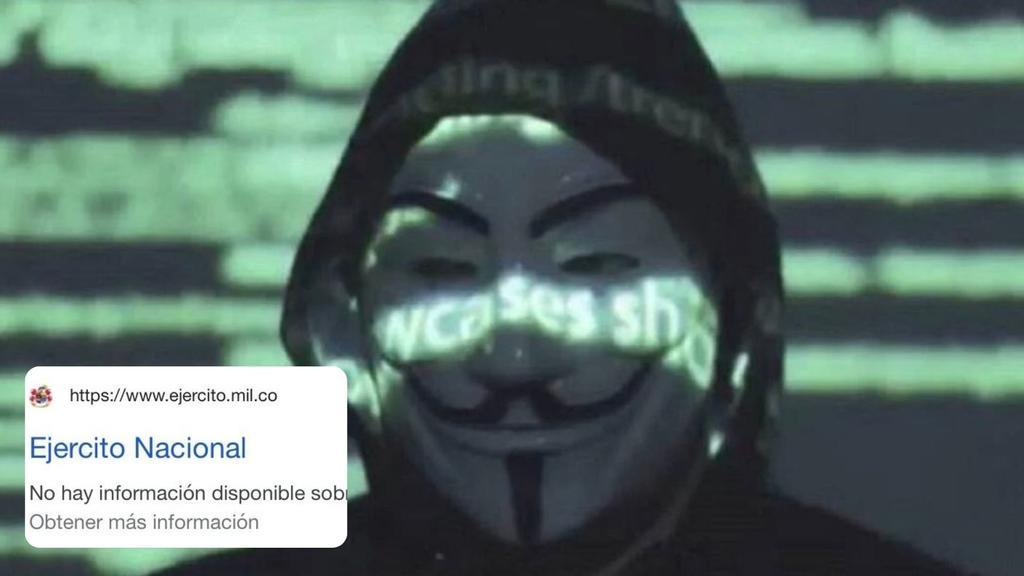 Anonymous se atribuye 'hackeo' a la página web del Ejército Nacional de Colombia
