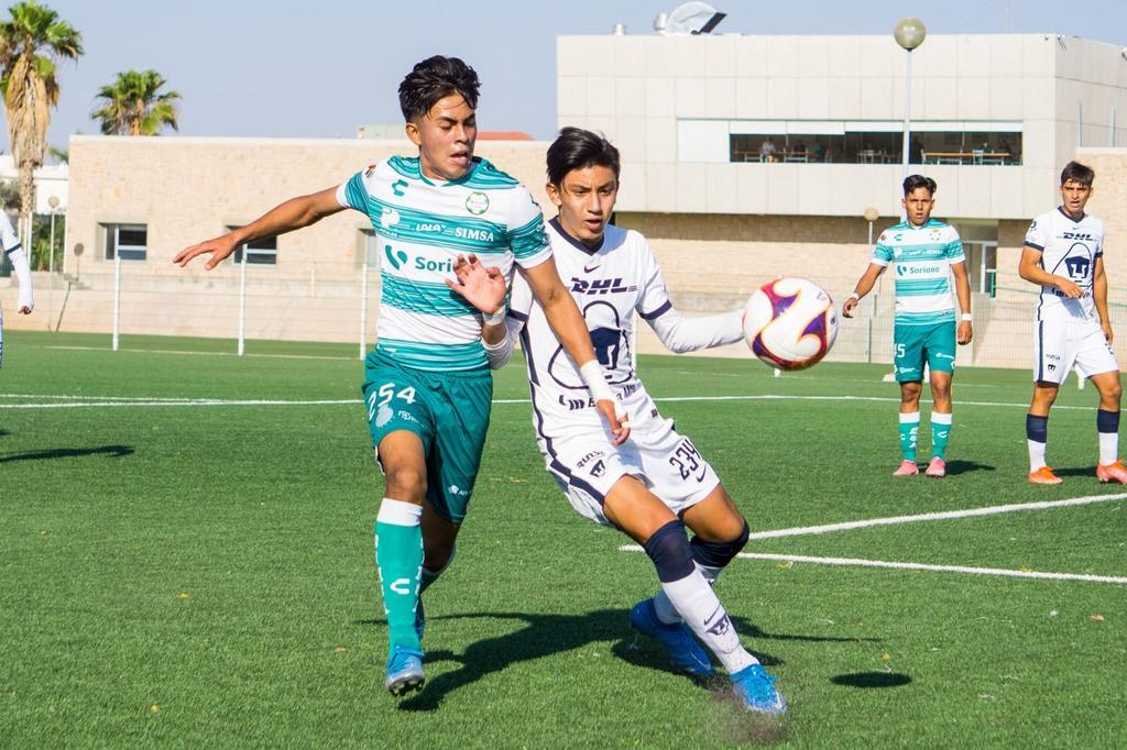 Empatan Santos y Pumas Sub-17 en la ida de Cuartos de Final