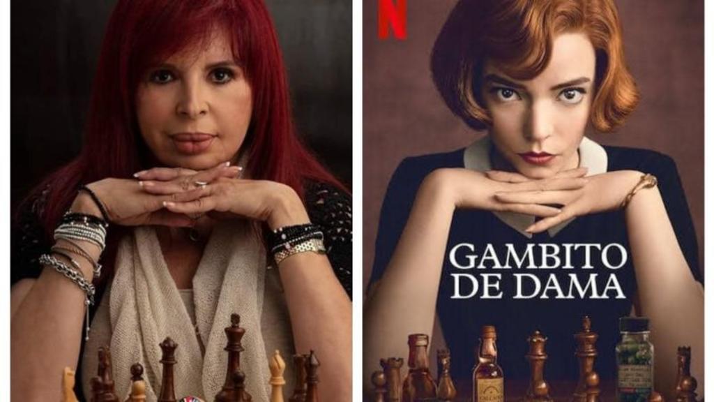 Redes ponen en jaque a Layda Sansores por imagen al estilo 'Gambito de dama'