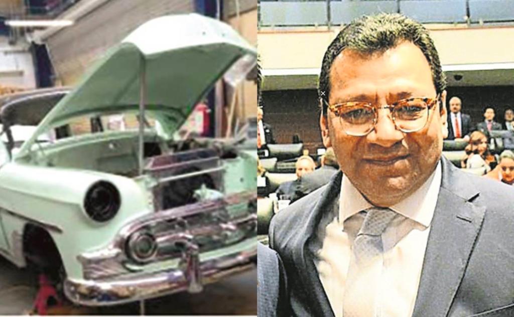 Magistrado utiliza taller del tribunal para restaurar cinco autos clásicos