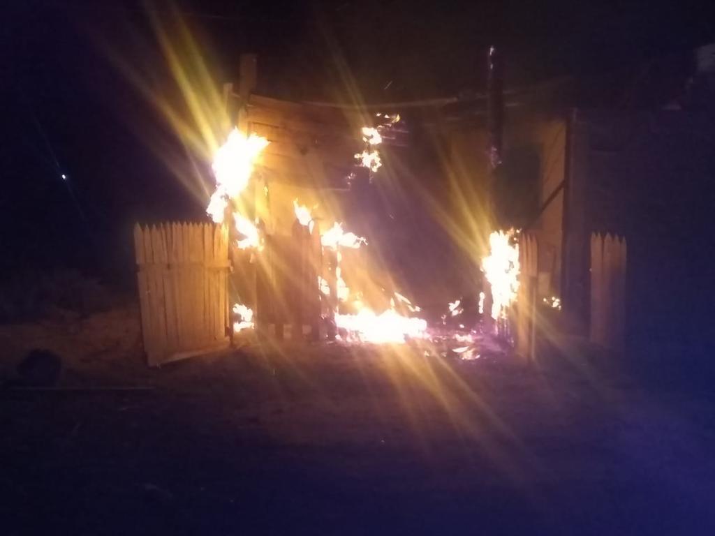 Se incendia casa del ejido San Isidro en Lerdo