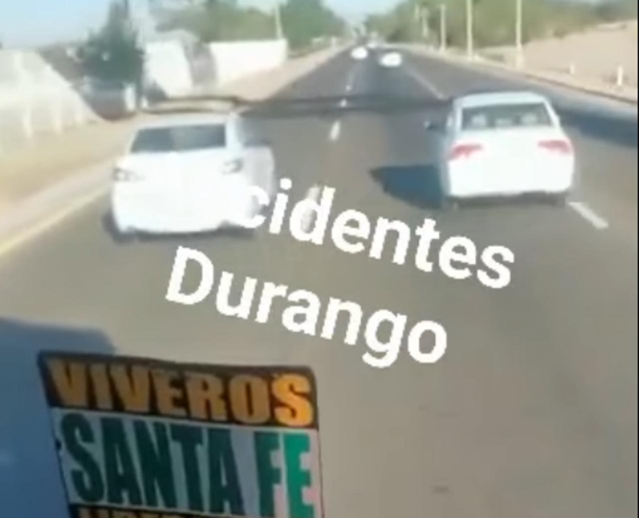 VIDEO: sujeto dispara contra camión de ruta tras discusión en Durango