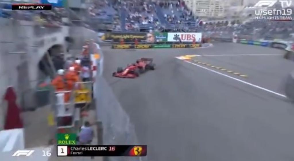 Charles Leclerc impacta su Ferrari en muro de Mónaco