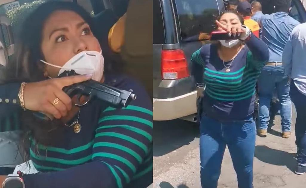 Ella es #LadyPistola, la mujer 'policía' que encañonó a la madre de un detenido