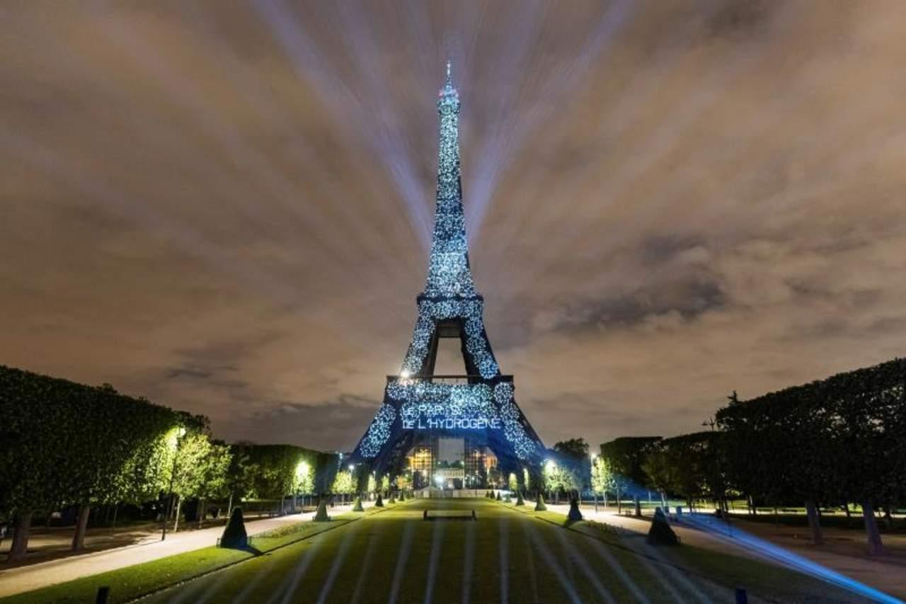 Torre Eiffel, iluminada con hidrógeno renovable