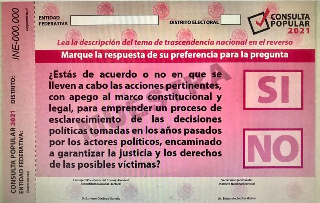 Achica INE consulta popular