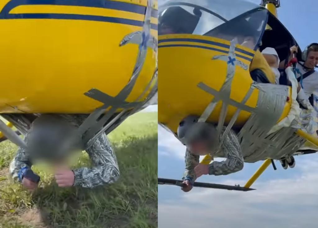 'Youtuber' ata a hombre a un helicóptero con cinta adhesiva; autoridades lo investigan