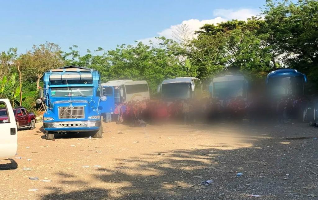 Aseguran a 194 inmigrantes centroamericanos en Chiapas