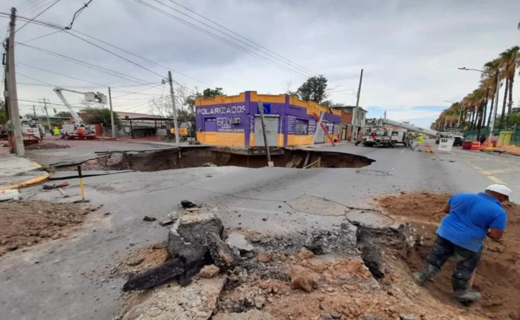Se registra un nuevo megasocavón, ahora en Tamaulipas