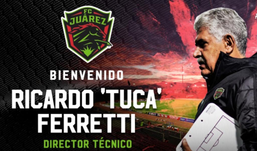 OFICIAL: 'Tuca' Ferretti es el nuevo entrenador de Bravos Juárez