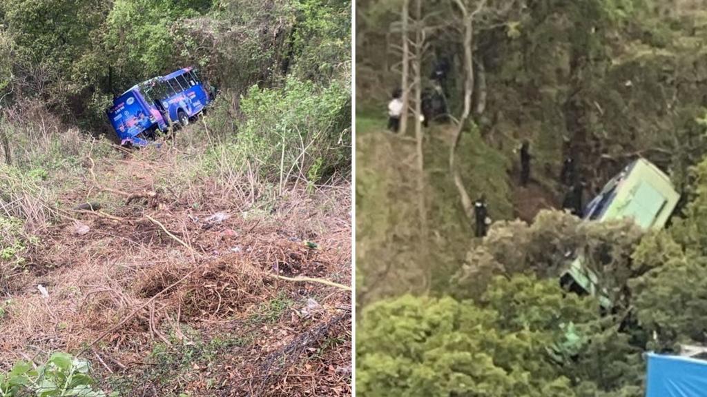 Cae camión de pasajeros a barranca en Cuajimalpa; hay 19 heridos