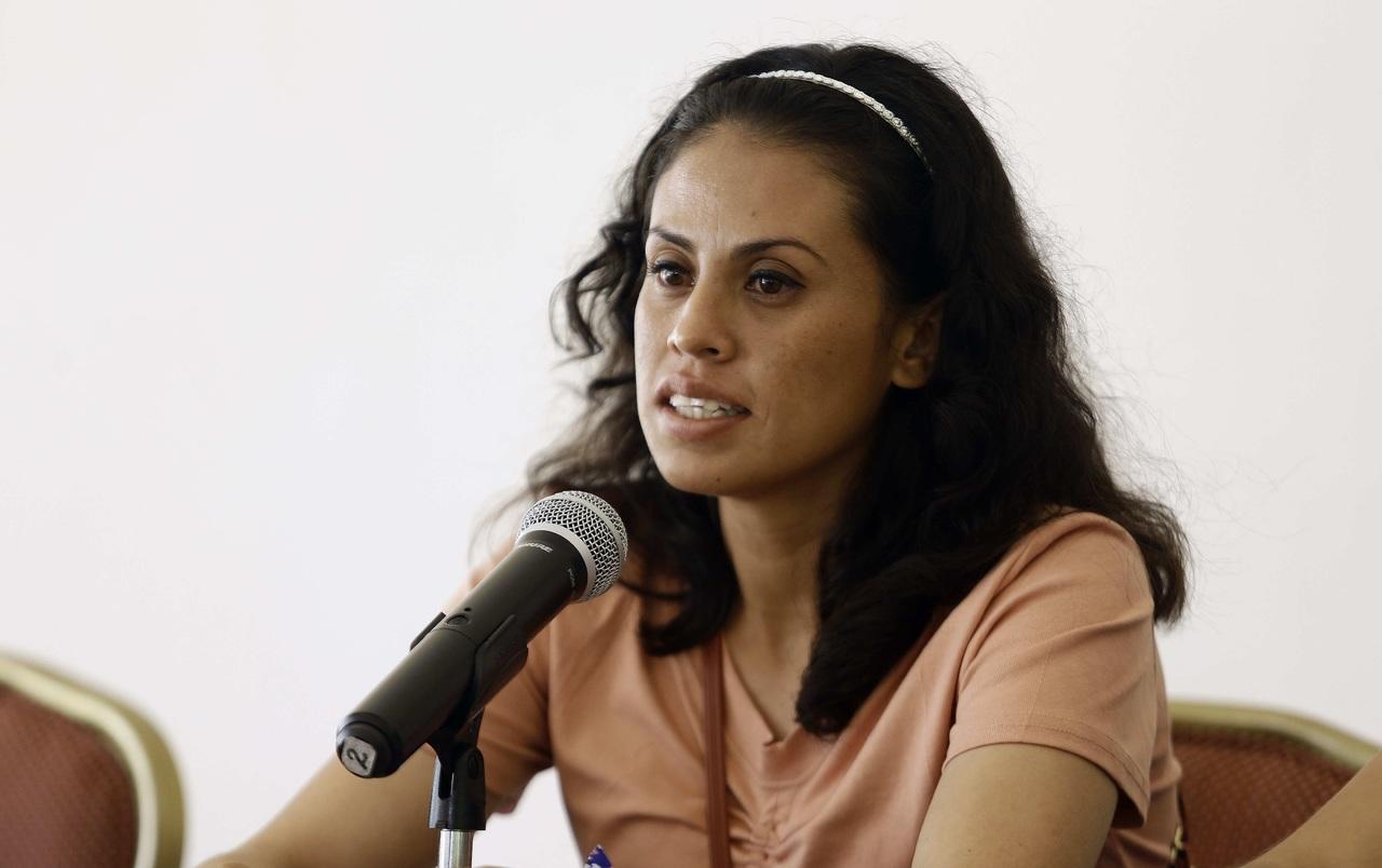 Salvadoreña Sara Rogel pide justicia para mujeres