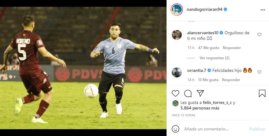 Fernando Gorriarán debuta con la Selección de Uruguay