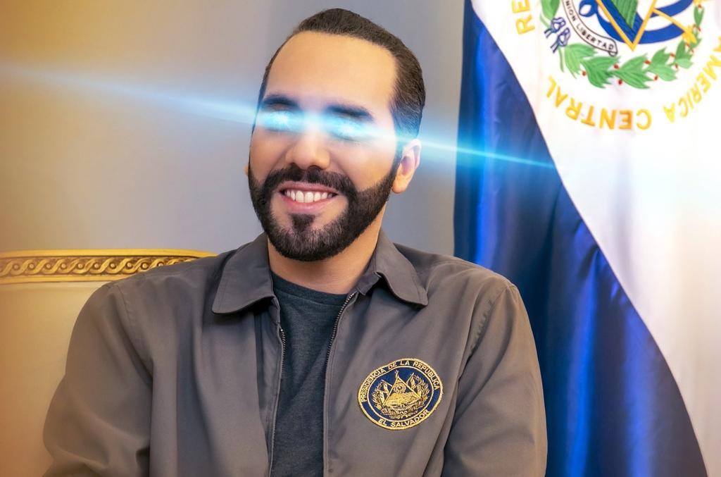¿Por qué el presidente de El Salvador, Nayib Bukele, lleva ojos láser en Twitter?