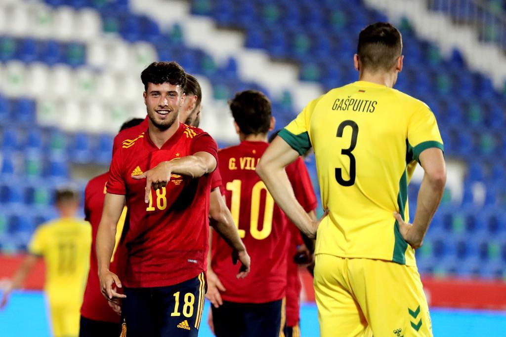 Goleada de España sub-21 a Lituania en amistoso
