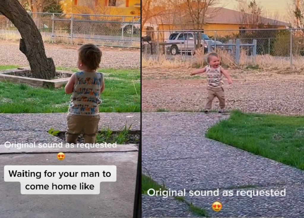 Bebé tiene emotiva reacción a la llegada de su papá a casa