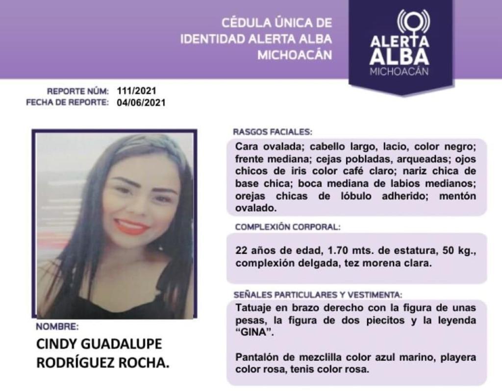 Hallan sin vida a Cindy Guadalupe, reportada desaparecida en Michoacán