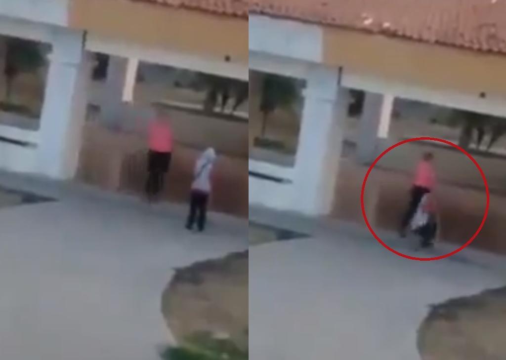 Captan a mujer arrastrando y golpeando a su hijo invidente en Jalisco