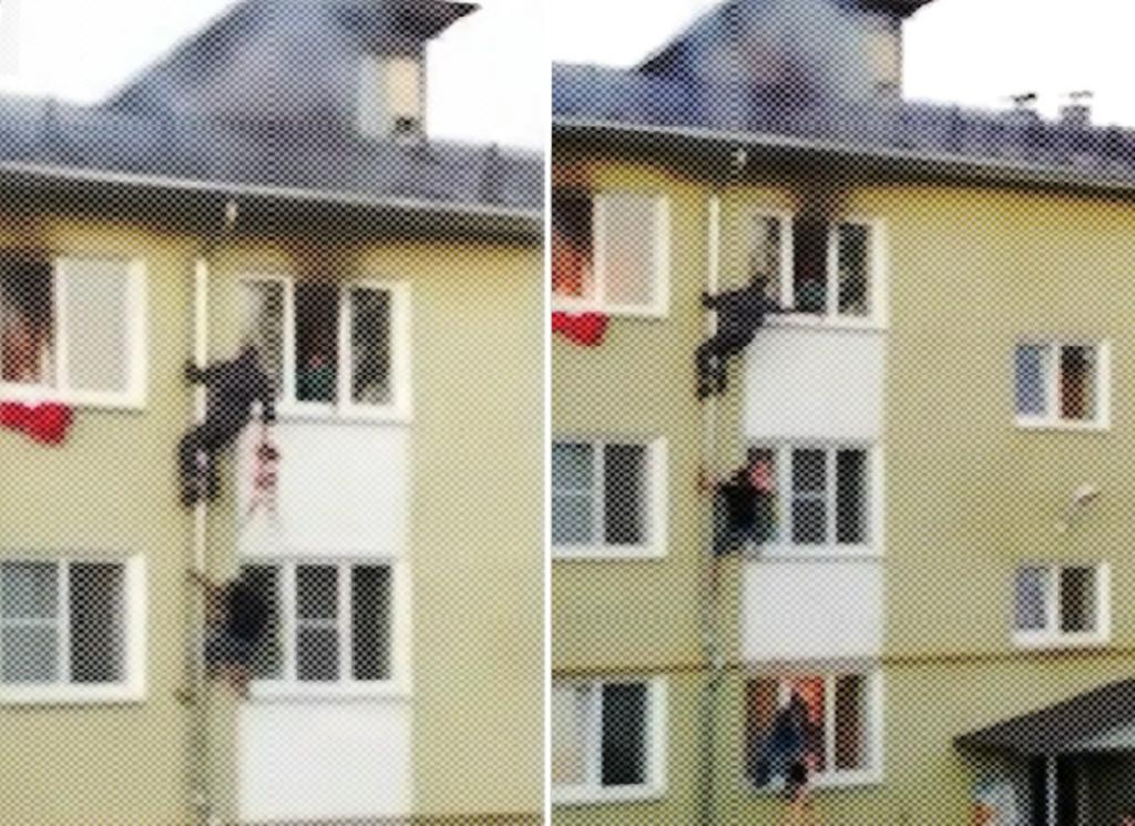 Vecinos salvan a tres niños de un incendio en un edificio