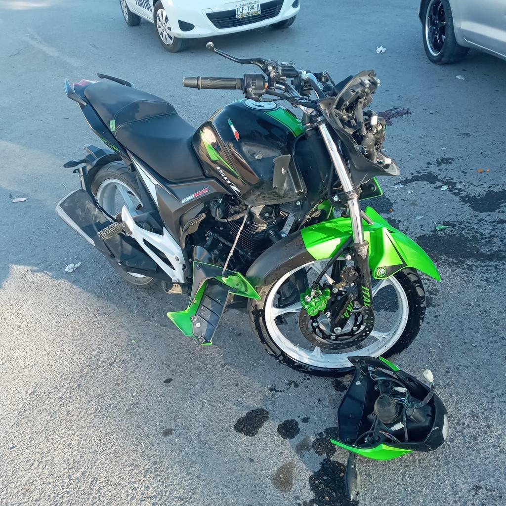Motociclista resulta lesionado tras accidente en Torreón