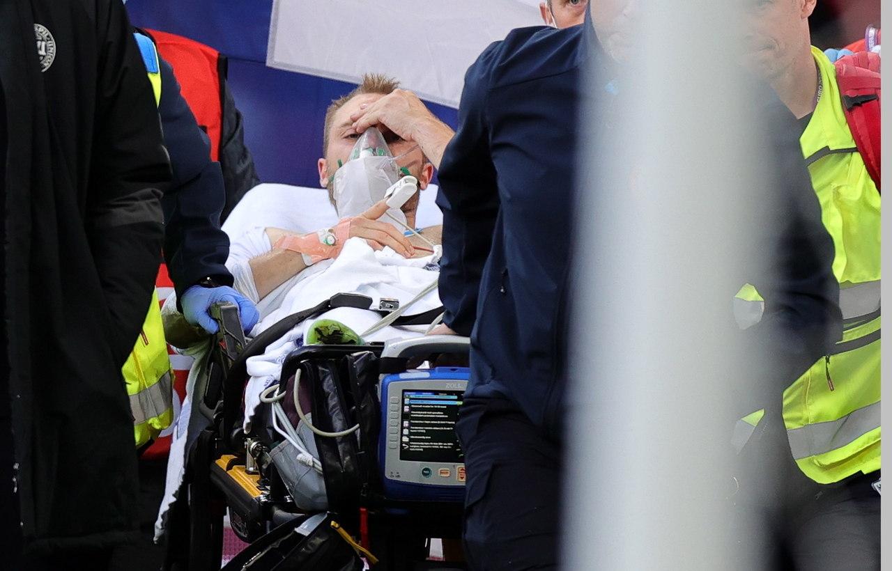 Christian Eriksen se desploma en la Euro