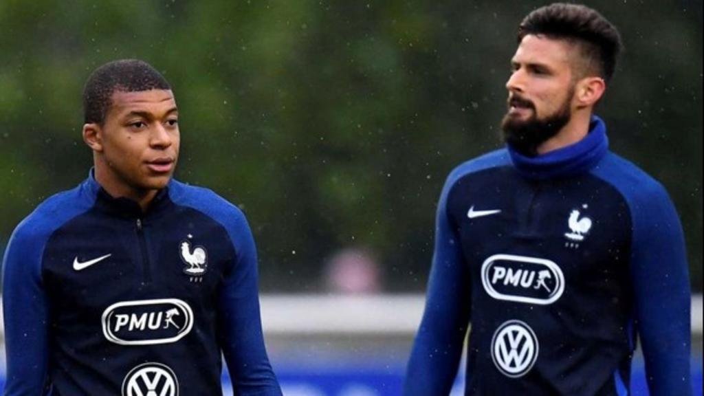 Roce entre Mbappé-Giroud se agrava en la Eurocopa