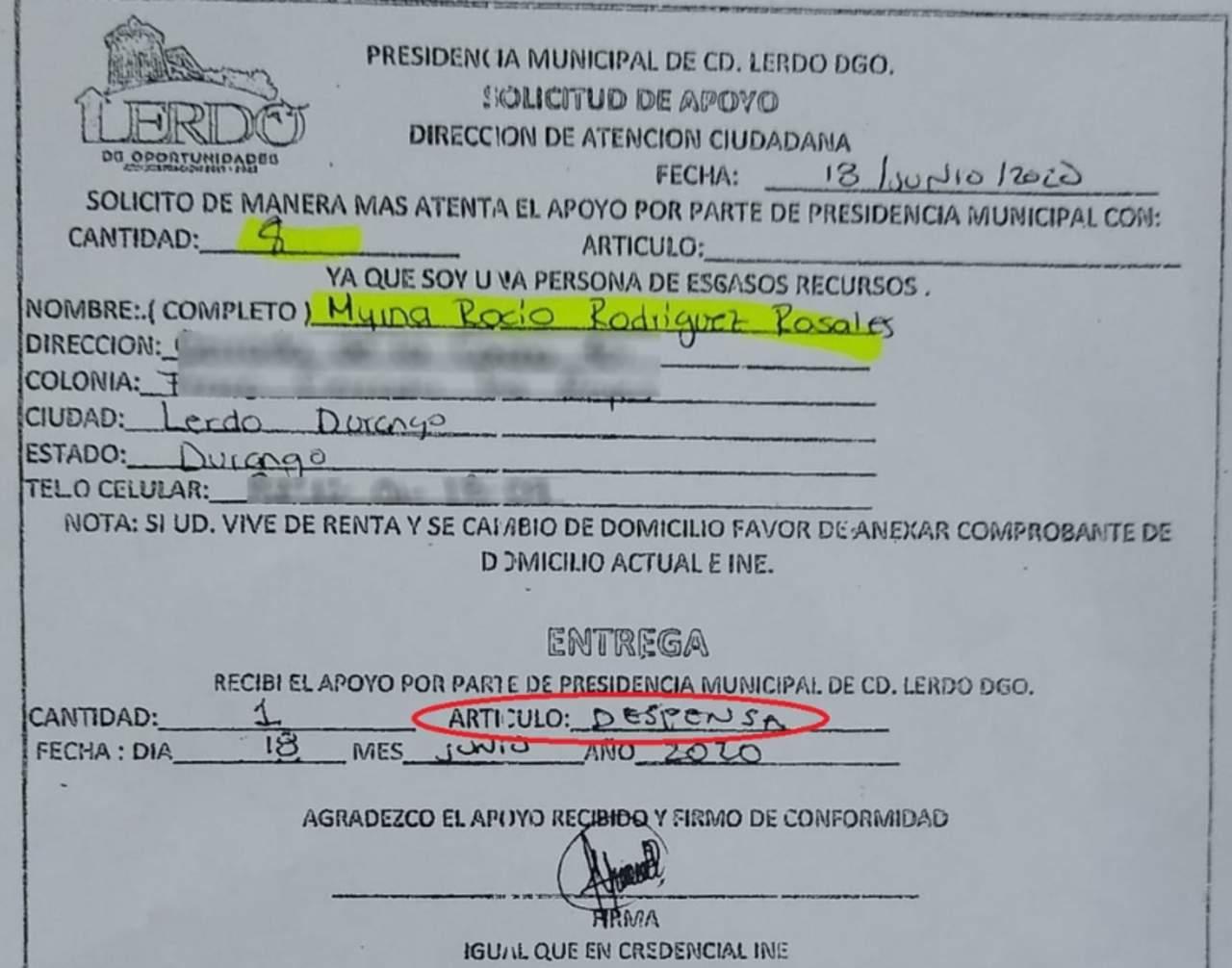 Funcionarios se reparten despensas compradas con dinero público del Ayuntamiento de Lerdo
